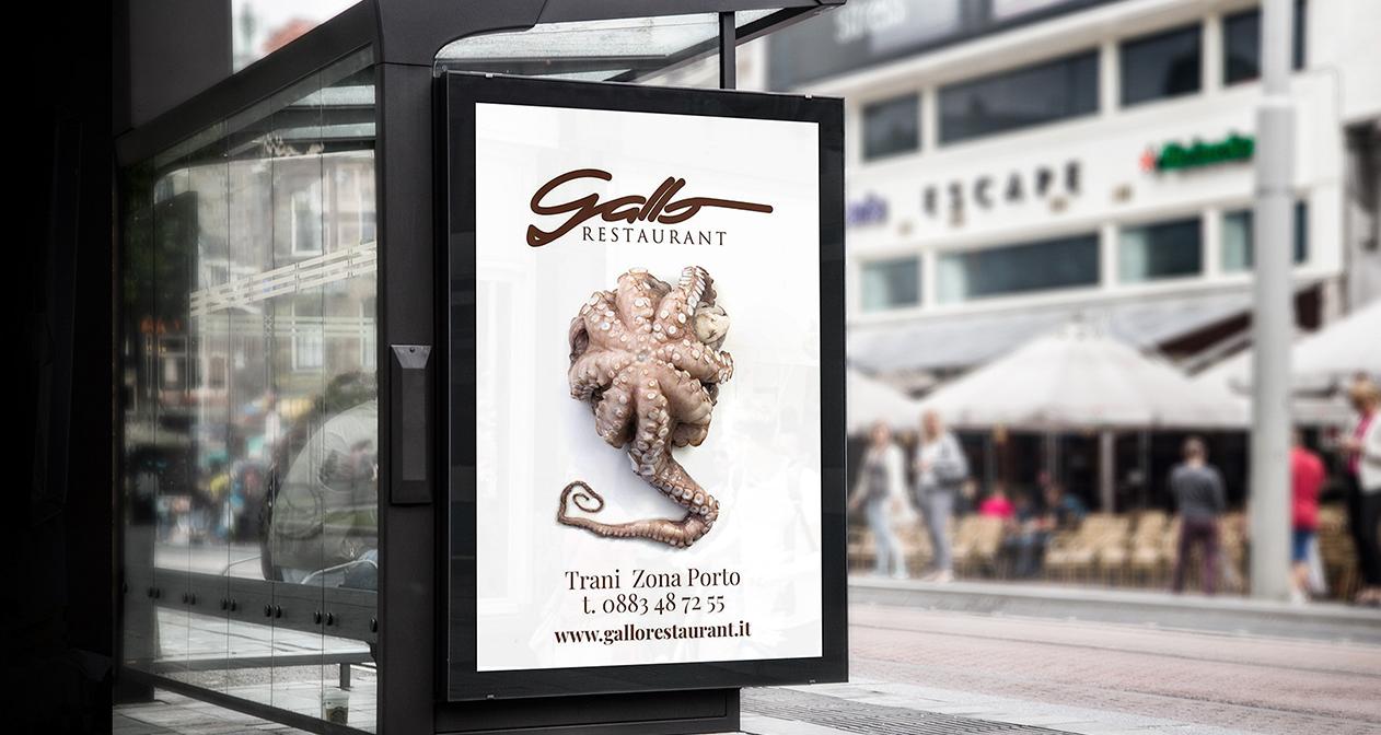 Gallo restaurant pubblicità affissioni cartellonistica marketing enogastronomico